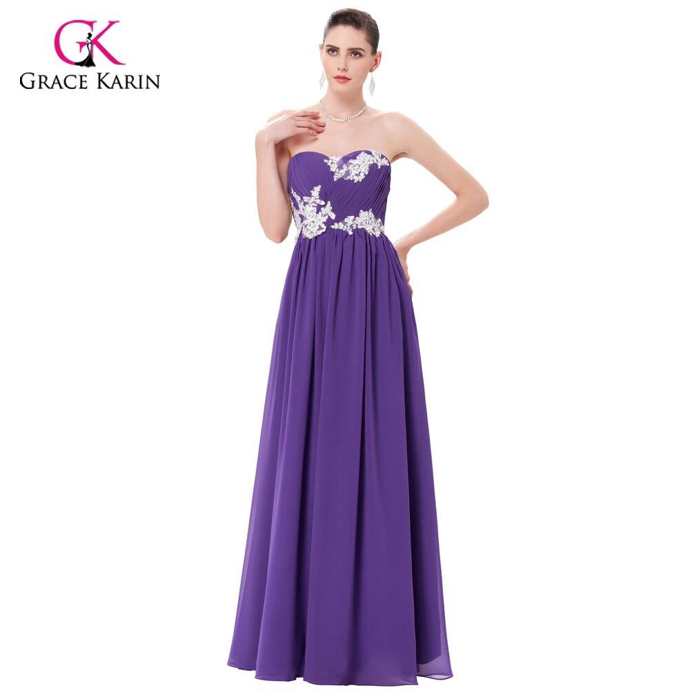 Bridesmaid     Dresses   Grace Karin 2018 Green Purple Cheap Long   Bridesmaids     Dresses   Gowns Chiffon Wedding Party   Dresses   Under $50