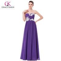 Bridesmaid Dresses Grace Karin 2018 Màu Xanh Lá Cây Tím Giá Rẻ Dài Bridesmaids Dresses Gowns Voan Wedding Party Dresses Dưới $50