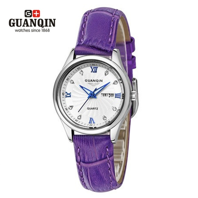 ФОТО 2016 Top Brand GUANQIN Woman Quartz Watch Luxury Famous Brand Watch Waterproof Cheap Ladies Watch Sport Wristwatch Montre Femme