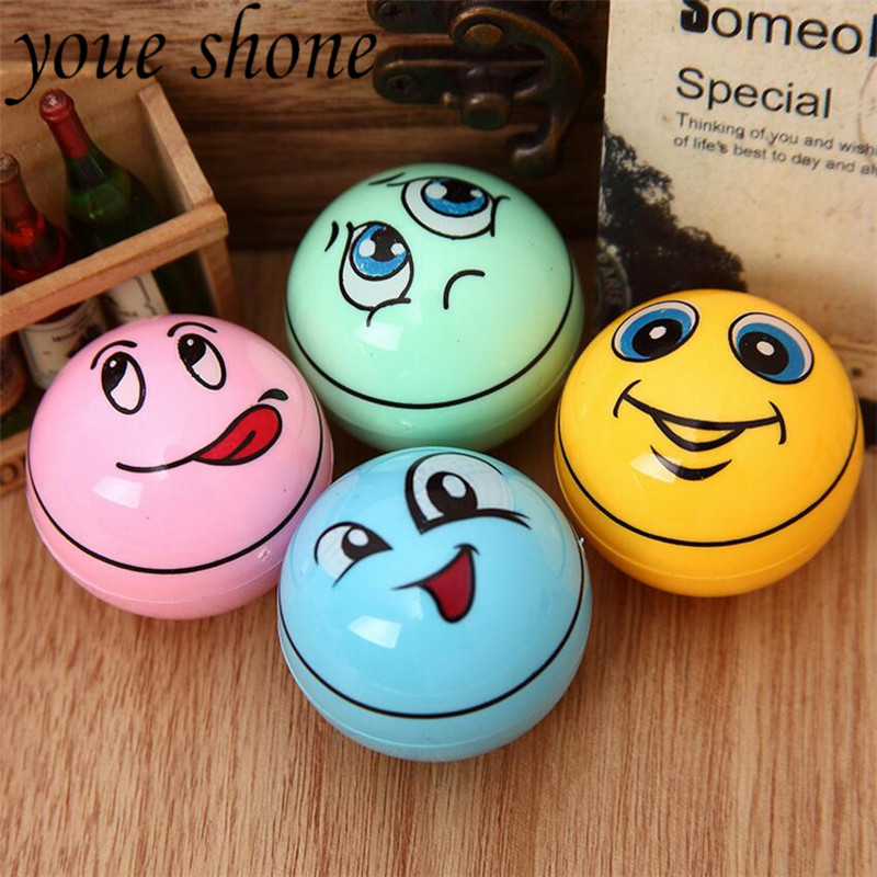 2Pcs/lots Creative Cartoon Smiley Face Ball Pencil Sharpener With Funny Expression Stationery And Office Supplies For Students