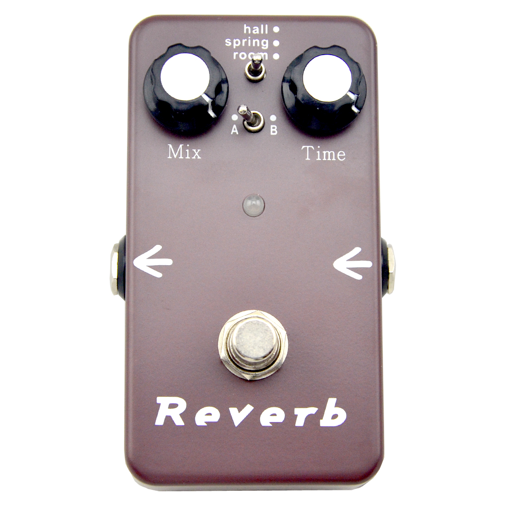 Reverb Effects Pedal Electric guitar effect pedals Hall Spring Room modeTrue bypass free shipping 1pc reverb tank replace 4eb2c1b 2 spring long decay electric guitar amplifier