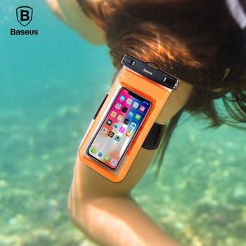 Baseus 6'' Universal Multifunction Waterproof Case For iPhone X 8 8 Plus 7 7 Plus Samsung S9 S8 Plus Waterproof Pouch IPX8 Bags