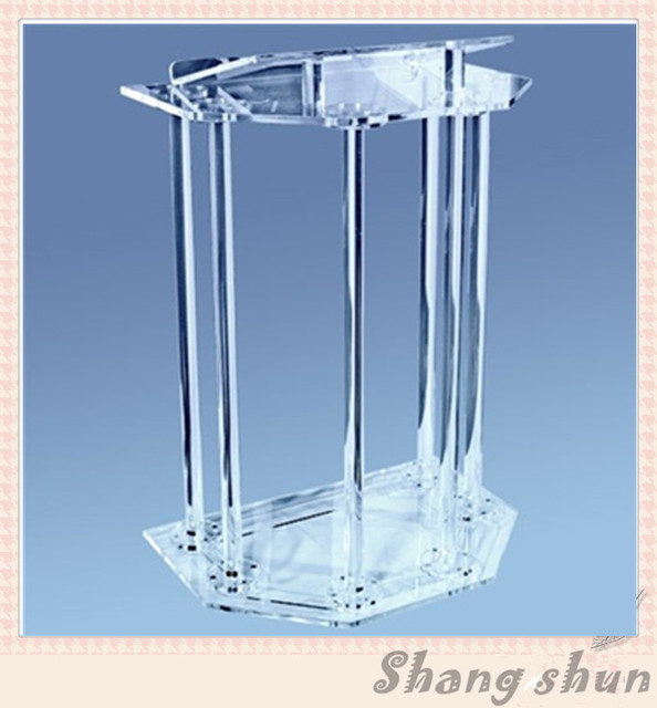 Clear Acrylic Podiums Pulpit For Church Classroom Lectern Podium Acrylic Church Pulpit
