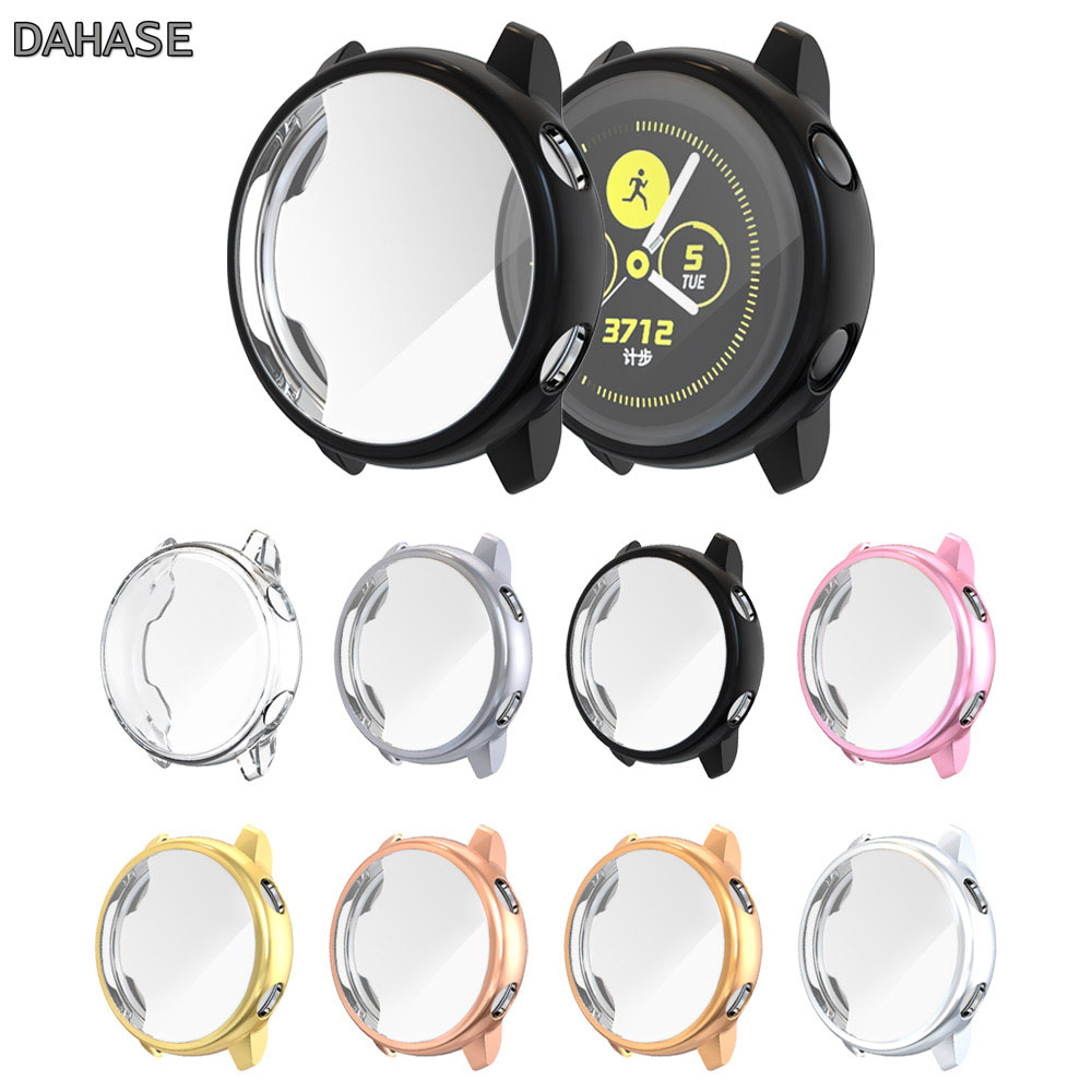 Screen Protector Case For Samsung Galaxy Watch Active Cover All-Around Ultra Thin Soft TPU Silicone Protection Watch Case