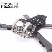 Зонтик 5 дюймов 230 мм 117 г 6 дюймов 250 мм 4 мм 122 грамм Алюминий скобяными клетка Quadcopter Рамка петух