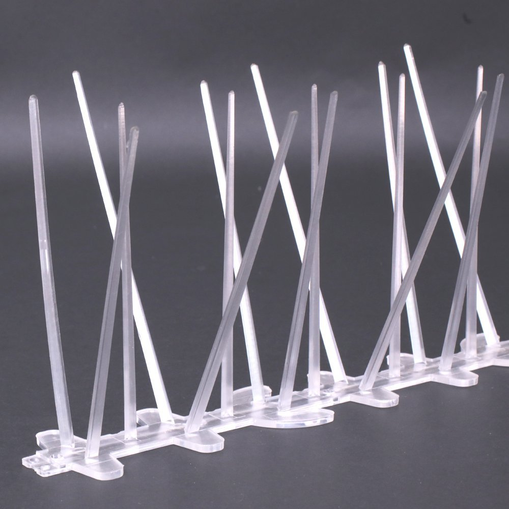 UV Proof Plastika Polikarbonat Bird Spikes, Kit za golubove, set od 12 (12x25cm)