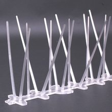 Plastic Polycarbonate Bird Spikes,UV Proof Pigeon Spikes Kit ,5feet(6paks)