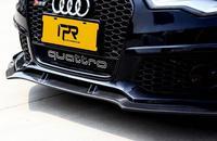 JINGHANG автомобиля углеродного волокна перед + заднего бампера спойлер авто диффузор Подходит для AUDI A6 A6L RS6 2016 2017 2018