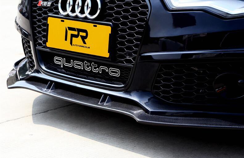 JINGHANG voiture fibre de carbone avant + arrière pare-chocs lèvre Spoiler Auto voiture diffuseur convient pour AUDI A6 A6L RS6 2016 2017 2018