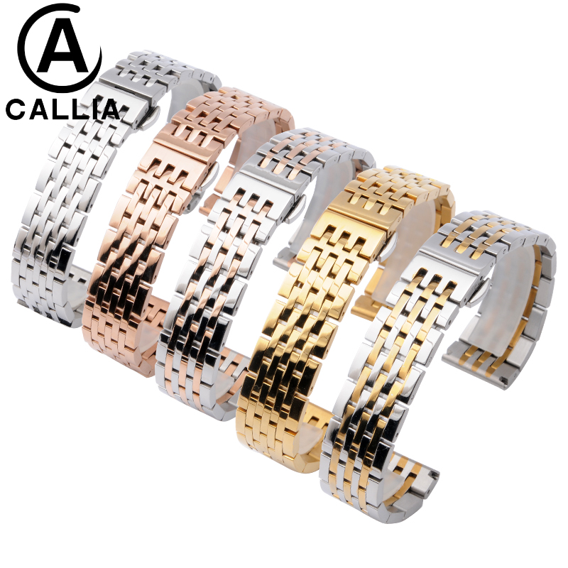 High Quality Solid Stainless steel watch Strap band For CITIZE AR Men Women metal watch bracelets 12mm 14mm 18mm 19mm 20mm 21mm