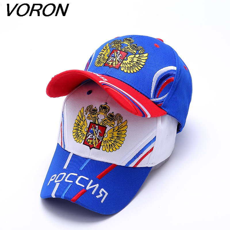 VORON Unisex 100% Cotton Outdoor Baseball Cap Russian Emblem Embroidery Snapback Fashion Sports Hats For Men & Women Patriot Cap 2017 new hot brand cotton men hat baseball cap casual outdoor sports unisex snapback hats cap for men women