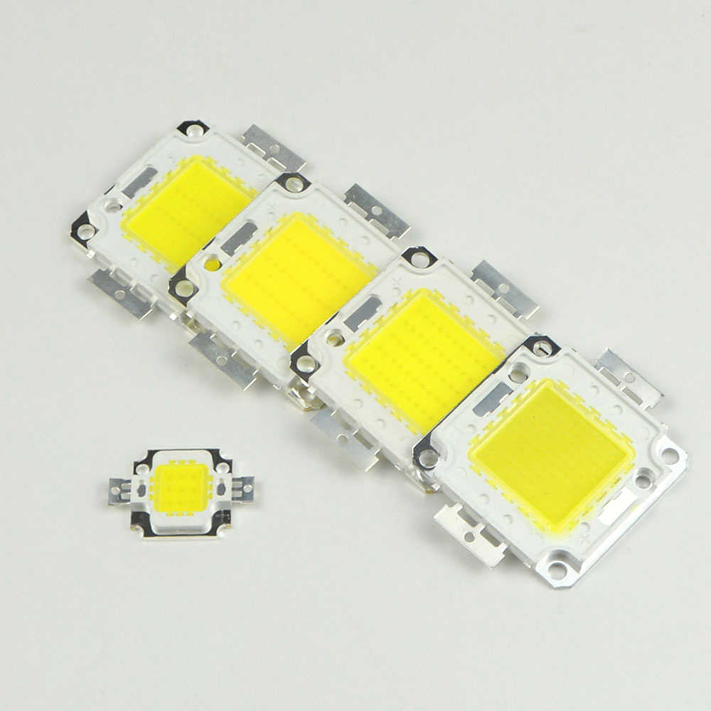 10W 20W 30W 50W 100W COB LED Chip Lampu Bohlam Chip untuk Lampu Sorot Taman square DC 12V 36V Terintegrasi LED Light Beads
