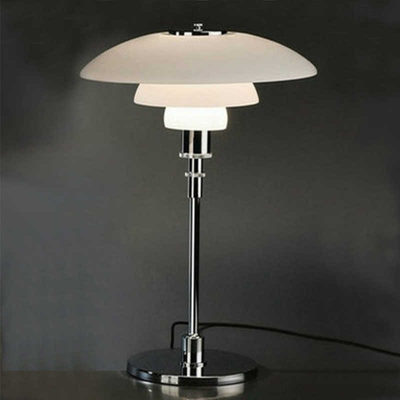 Factory wholesale high quality table lamp White Color Metal Glass table lamp LED Design reading lights