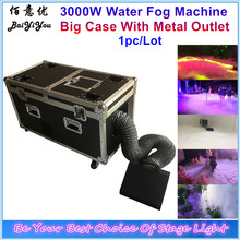 Powerful 3000W Water Smoke Machine DMX Water Mist Low Fog Machine With Plastic Water Tank And Metal Outlet(China)