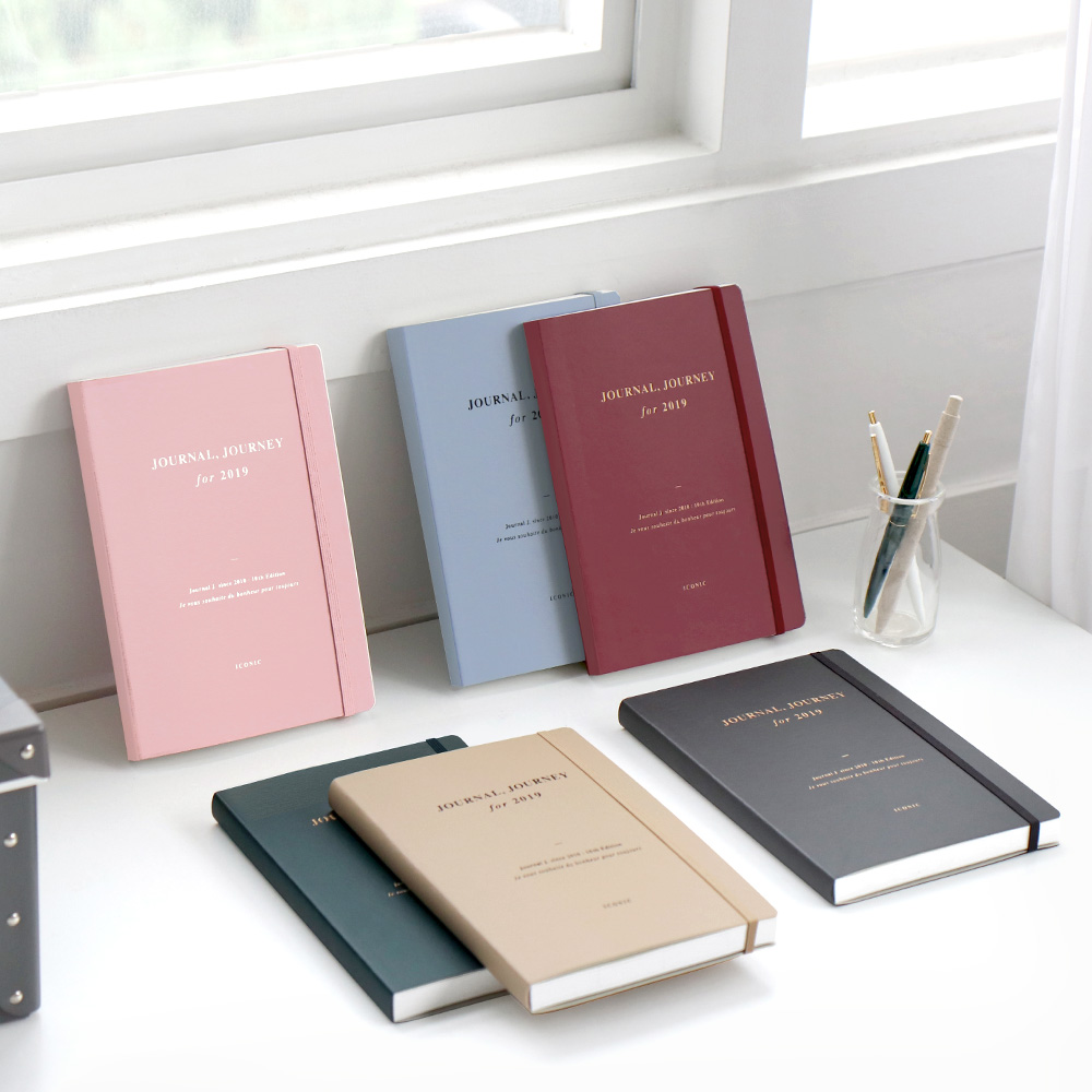 2019 Journal. J Band Agenda 14.8*21 cm Business Fashion mensuel hebdomadaire planificateur 192 P livraison gratuite