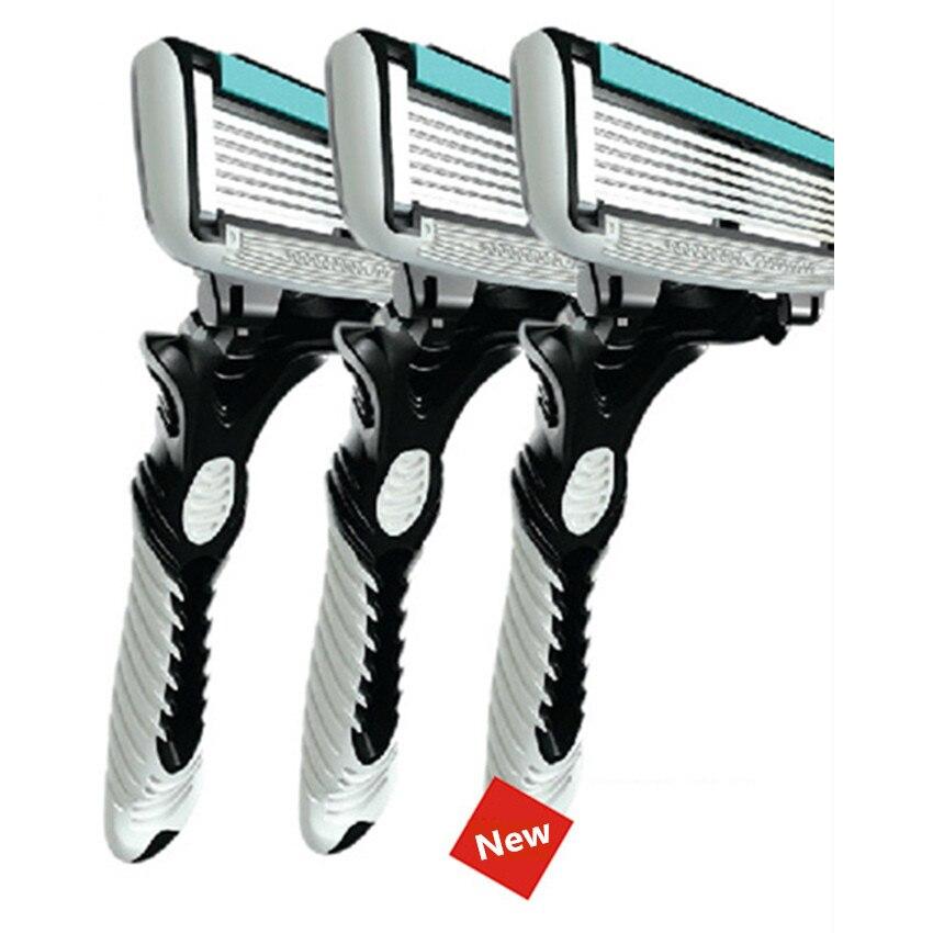 Original Men's Razor Blade 6 Layer Shaver Travel Manual Shaving Razors Machine With Original Handle Safety Razor