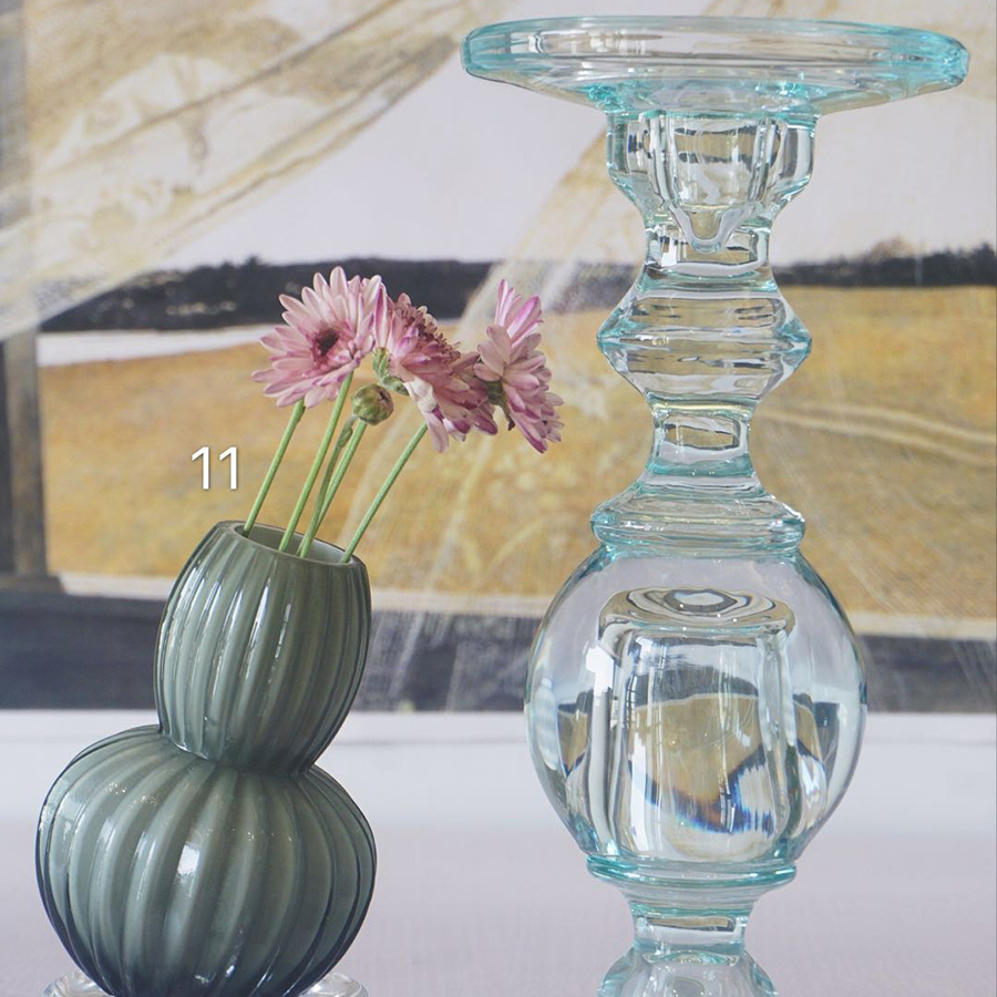 Colorful Glass Christmas Crystal Candle Stand Holder Centerpieces Nordic Decoration Home Candle Stick Porta Velas Candelabra 300 in Candle Holders from Home Garden