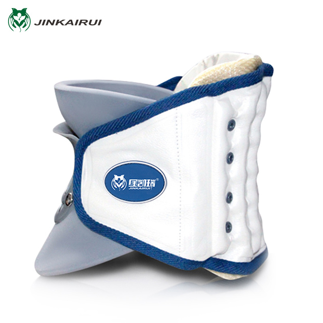 JinKaiRui Household Cervical Collar Neck Brace Air Traction Therapy Device Neck Traction Support Massager Relax Pain Relief