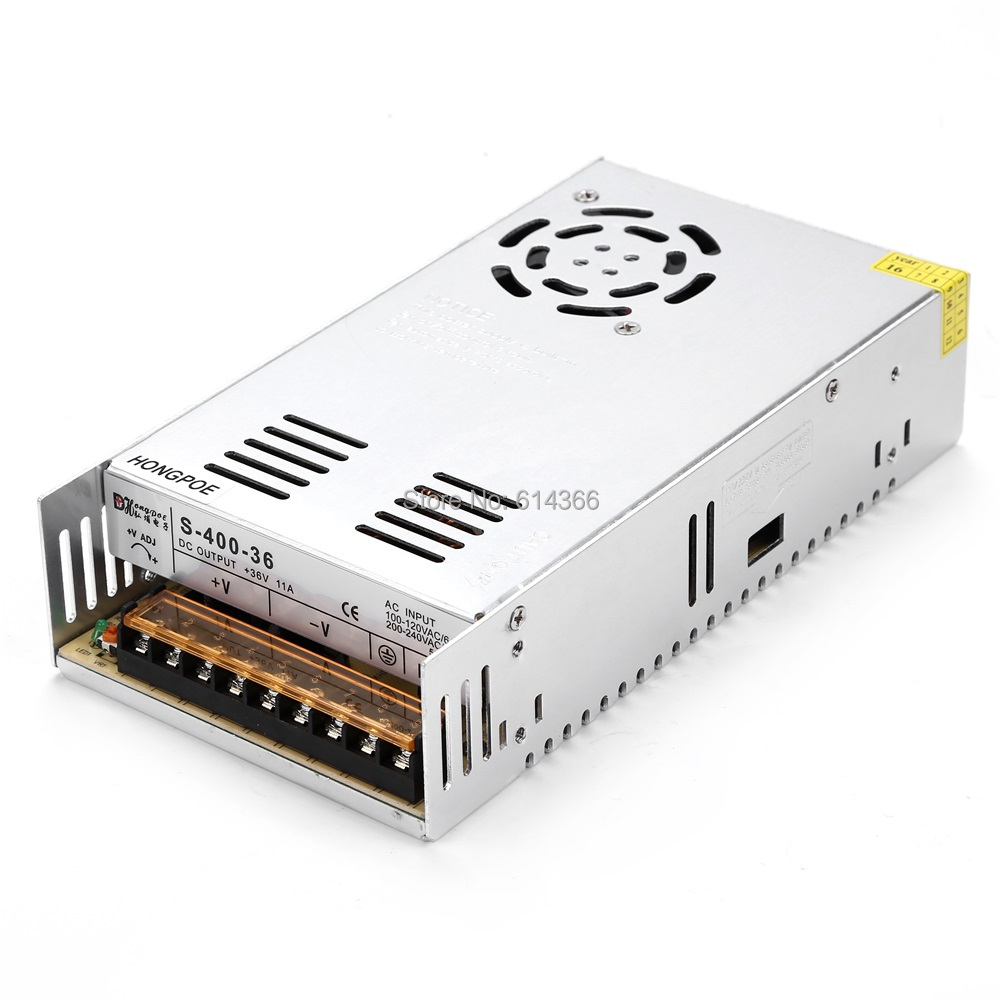 Best quality 36V 11A 400W Switching Power Supply Driver for CCTV camera LED Strip AC 100-240V Input to DC 36V 36pcs best quality 12v 30a 360w switching power supply driver for led strip ac 100 240v input to dc 12v30a
