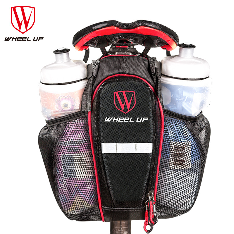 WHEEL UP Cycling Bag Can Put 2 Water Bottle Bicycle Seat Post Bag MTB Road Bike Seat Rear Tail Pouch Bottle Bag Bike Saddle Bag
