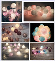 20pcs/sets thai style Cotton Ball String Lights Fairy ,wedding xmas, Christmas Patio Decor 110 220V US/EU/AU/UK plug