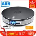 Мини-проектор AUN D8S, 1280x720 P, Android 6,0 (2G + 16G) wifi. Аккумулятор 12000 мАч, портативный 3D beamer. Поддержка 4 K видео домашний кинотеатр