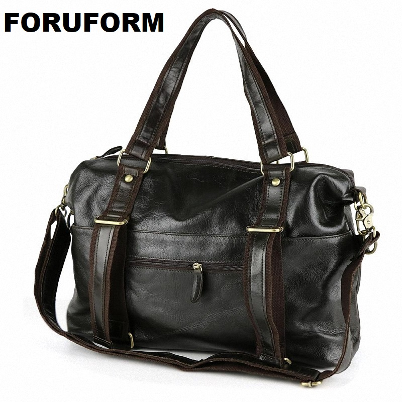 2018 Free Shipping New Fashion Genuine Leather handbag Men Famous Brand Shoulder Bag Messenger Bags  Men's Travel Bags LI-858 yuanyu 2018 new hot free shipping python leather handbag leather handbag snake bag in europe and the party hand women bag