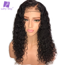 Luffy 130% Density Curly Lace Front Human Hair Wigs With Baby Hair Glueless Pre Plucked Natural Hairline Brazilian Remy Hair