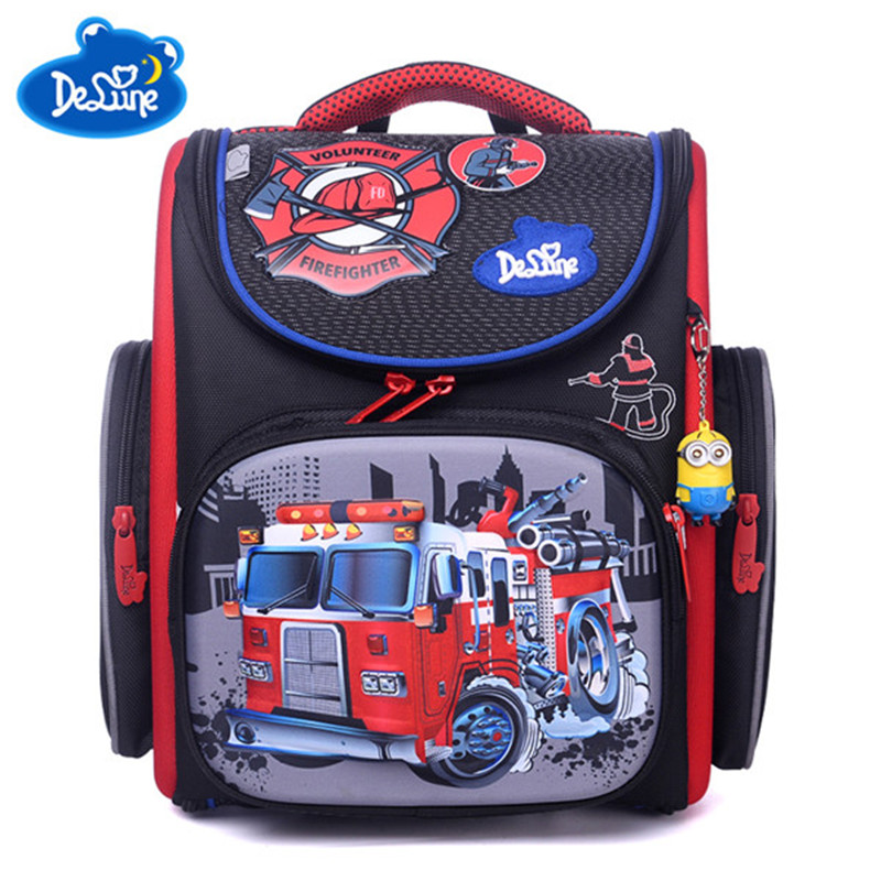 b658888e1c7 Delune Brand Primary Grade 1 3 Kids 3D Cartoon School bags Children  Orthopedic Ergonomic Design School Backpack Boys School Bags-in School Bags  from Luggage ...