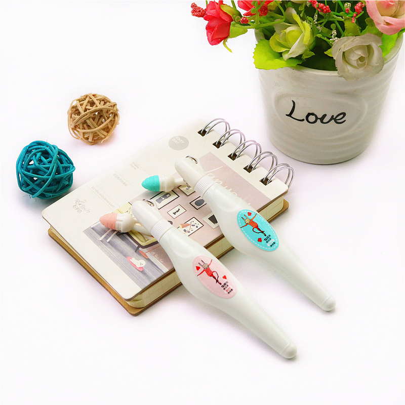 Cute White Rabbit Correction Fluid School Student Office Writing Error Correction Stationery Supplies 1pcs