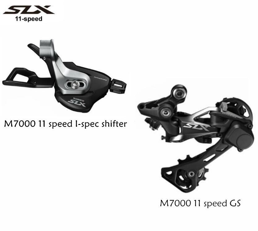 SHIMANO SLX M7000 11 Vitesse Droit manette de vitesse je-spec + 11 vitesse Arrière Dérailleurs GS
