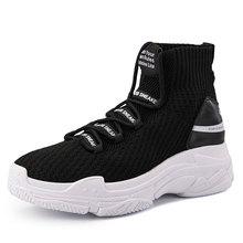 Sharkรองเท้าผ้าใบผู้หญิงผู้ชายHigh Top Breathable Winter Warmรองเท้าแพลตฟอร์มรองเท้าUnisexรองเท้าสบายๆรองเท้าผู้หญิง