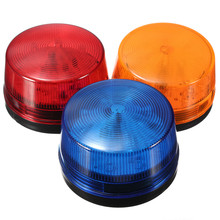 3pcs High Quality Waterproof 12V 120mA Safely Security Alarm Strobe Signal Safety Warning Blue Red Orange Flashing LED Light