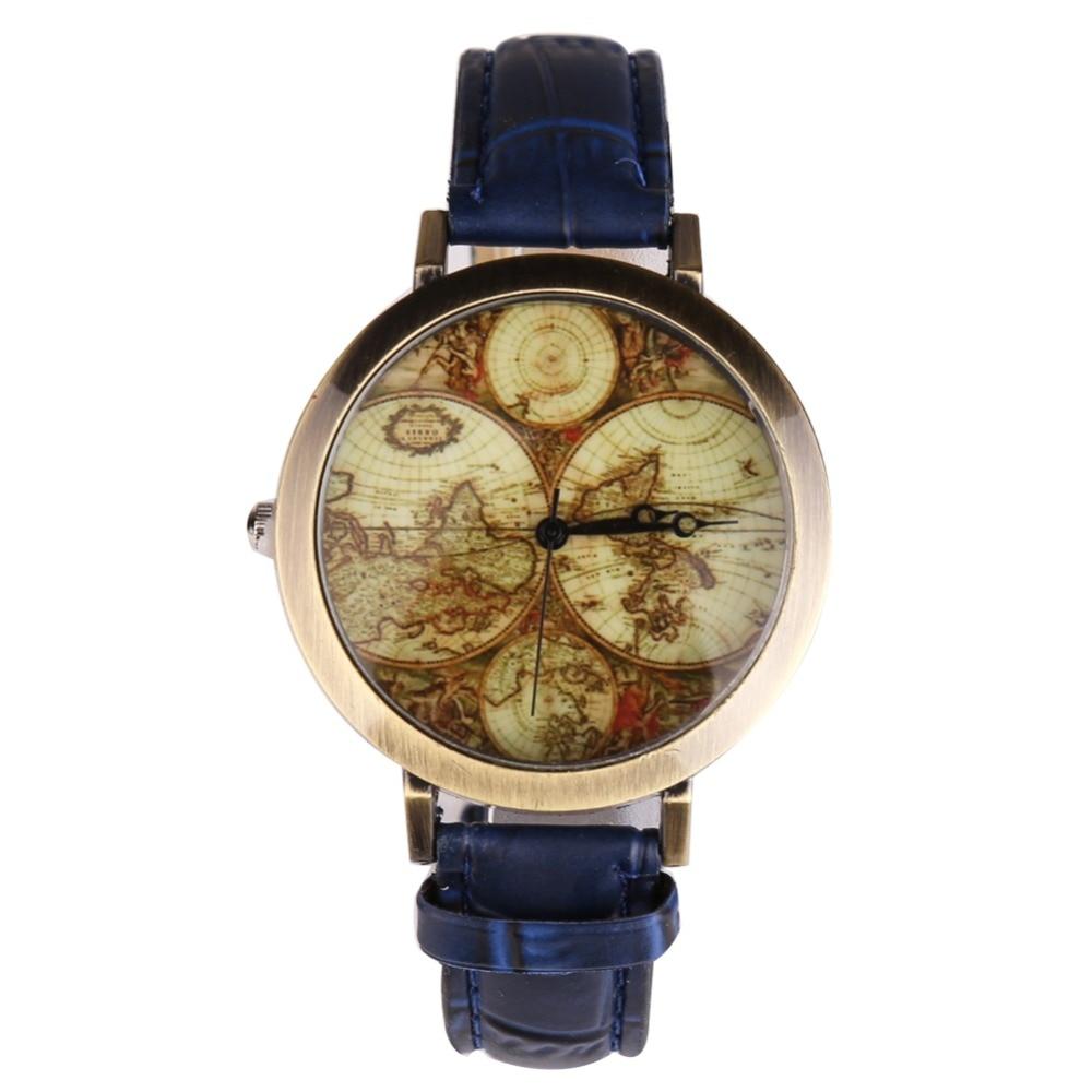 Nouveau Style Femmes Montre Bracelet Quartz Rtro Vintage Ic 78141 La78141 Asli 7pin En Cuir Reloj Mujer Horloge Cadeaux Bleu Relogio Feminino Saati