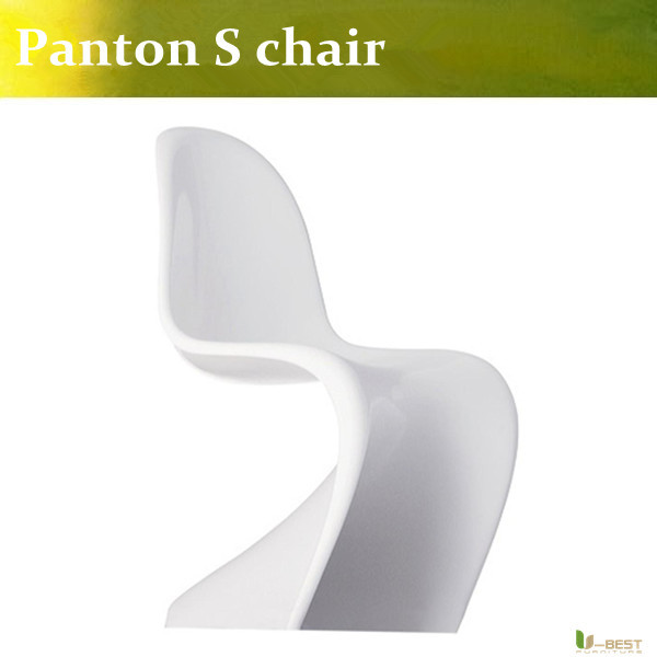 U-BEST  Paton style  ABS Chairs in white matt,Comfortable dining chair,S Chair in Molded Plastic