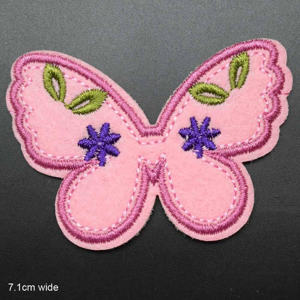 Ayçiçeği kiraz kelebek gökkuşağı işlemeli giysi yama giyim kızlar kadınlar demir on Patch