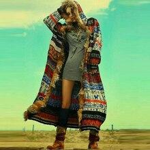 BOHOFREE, зимнее длинное пальто, искусственный мех, длинный рукав, подиум, богемный стиль, Boho, модная женская куртка, пальто, верхняя одежда, пальто