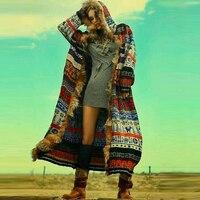 BOHOFREE Winter Long Coats Fake Furs Long Sleeve Runway Bohemian Style Boho Fashion Women Jacket Coats Outerwear Coats