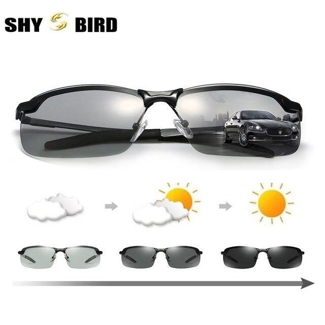 b3391af0769ced SHYBIRD Verres Photochromiques Polarisés Hommes de lunettes de Soleil de  Conduite Lunettes Hommes Biker Lunettes De