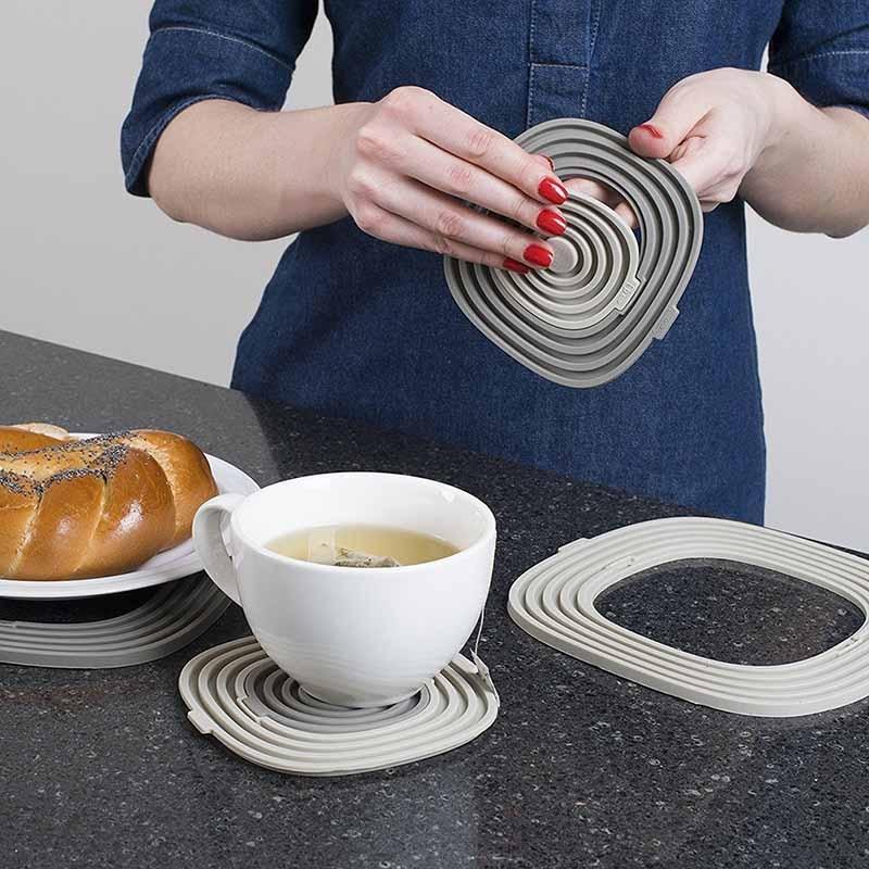 TEENRA 3Pcs / set Silicona Pot Holder Plate Mat Mat Pad Pad - Cocina, comedor y bar - foto 4
