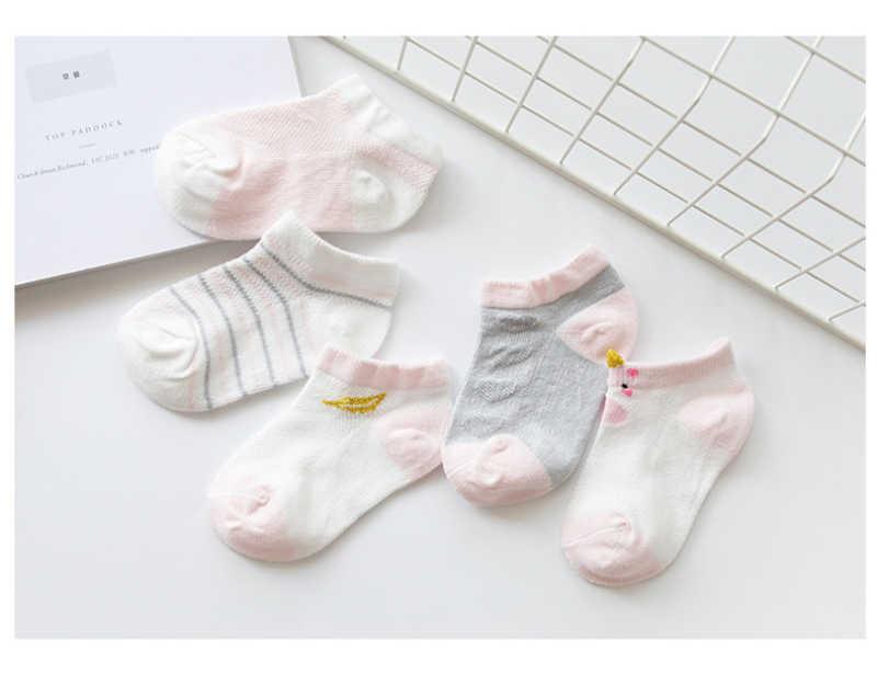 5 pares/lote 0-8Y Meias Macias Do Bebê Verão Malha Fina Meias de Algodão Recém-nascidos Do Bebê Meias Unisex Crianças Crianças Roupa Do Bebê por atacado