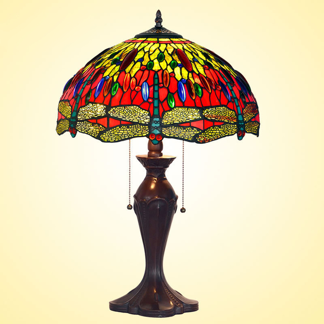 Tiffany lamp lighting 16 inch color handmade glass lamp shade tiffany lamp lighting 16 inch color handmade glass lamp shade bedroom bedside lamp aloadofball Gallery