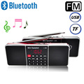 FM Radio Bluetooth Wireless Speaker Mini Portable Super Bass SD/TF MP3 Player AM/FM Radio with LCD Screen Portable