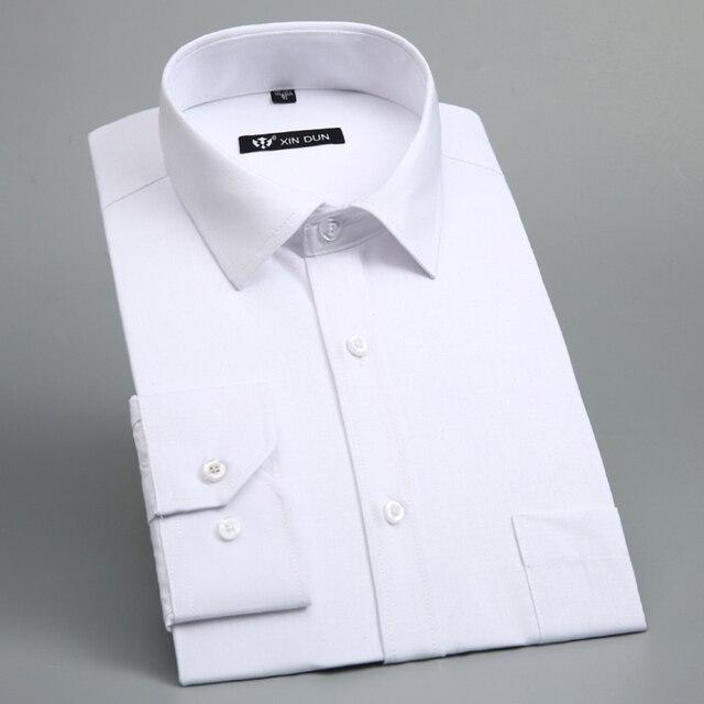 Формальные Рубашки для Мужчин Camisa Социальной Masculina Мужские Рубашки с длинным Рукавом Синий Белая Рубашка С Черным Кнопки Человек Офис рубашки