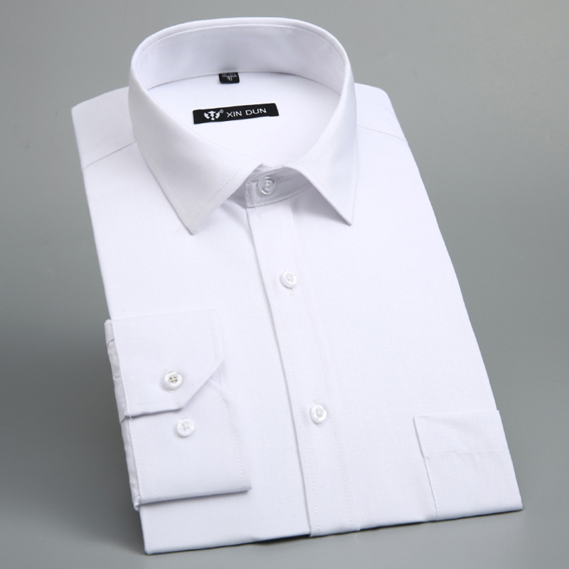 Formal shirt for men camisa social masculina mens dress for Mens formal white shirts