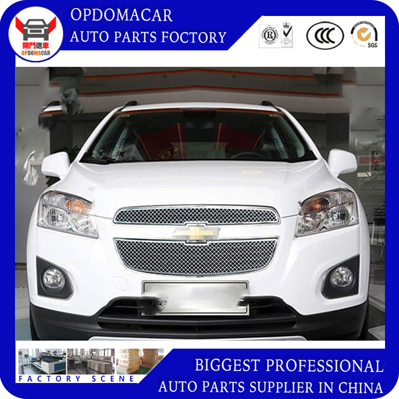 High quality Modificate 304 Stainless steel car front grille racing grills grill cover trim for Trax 2014 2015 2016 14 15 16