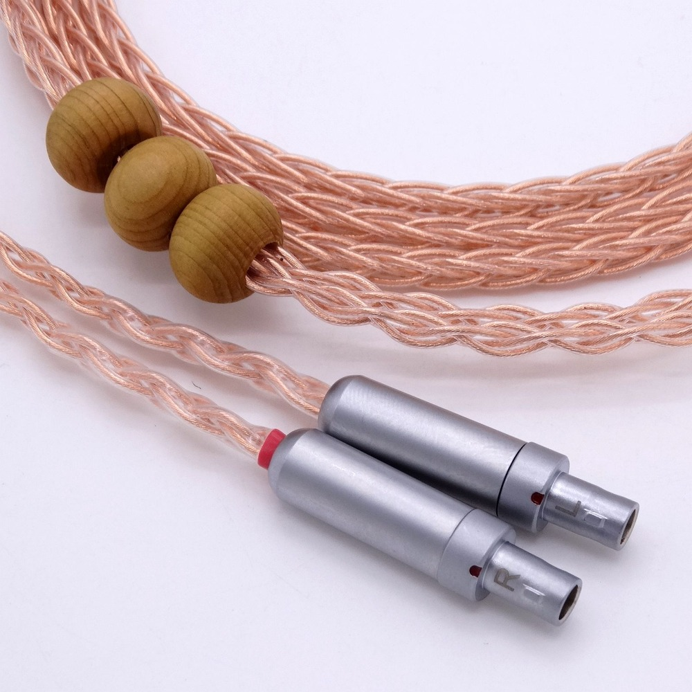 2.5m 4-Pin balanced DIY Hi-end HIFI 8 Cores 5n Pcocc copper Headphone Upgrade Cable for SENNHEISER HD800 цена и фото
