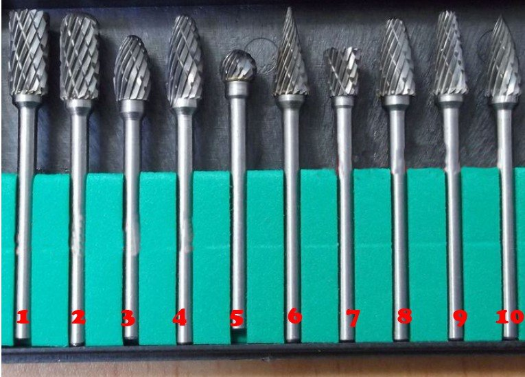 """10pc 1/8"""" shank Tungsten Carbide for Rotary Tools For ..."""