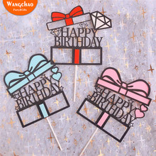 Happy Birthday Cake Topper Decoration Baby Shower Party Favor Kids Cupcake Toppers Supplies