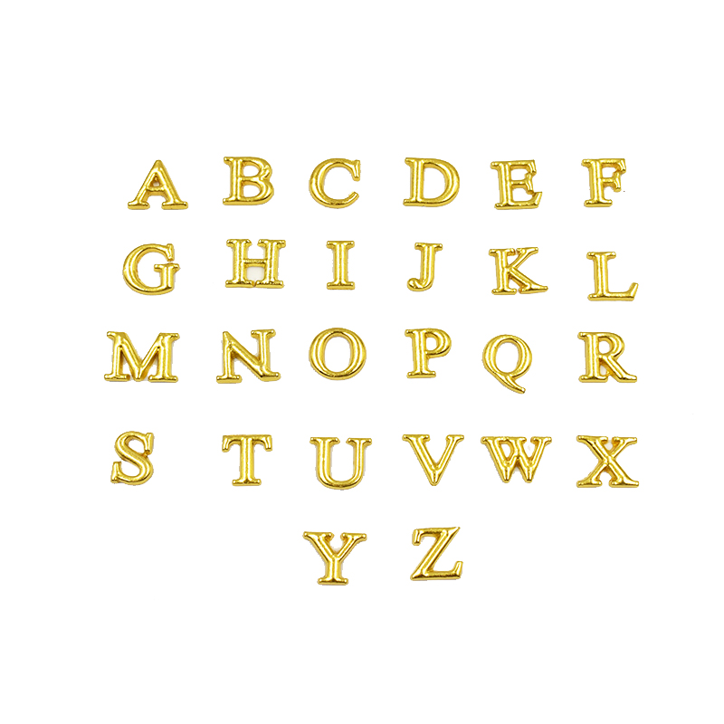 130PCS Gold A-Z Alphabet Letter Floating Charms Initial Charms For Glass Memory Floating Locket